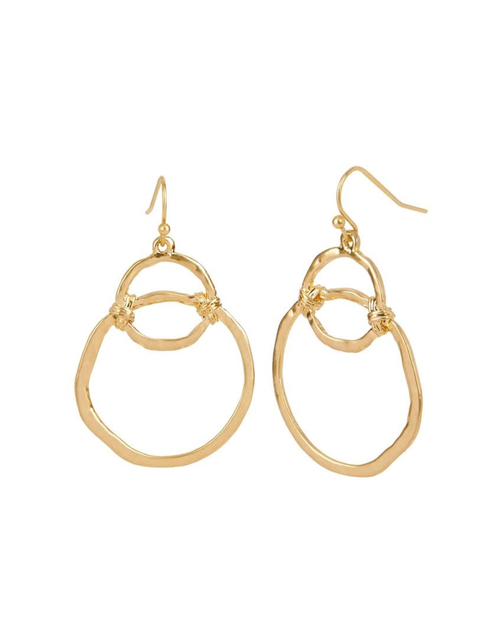 TGB / Good Bead INTERLOCKING HOOPS EARRING GOLD
