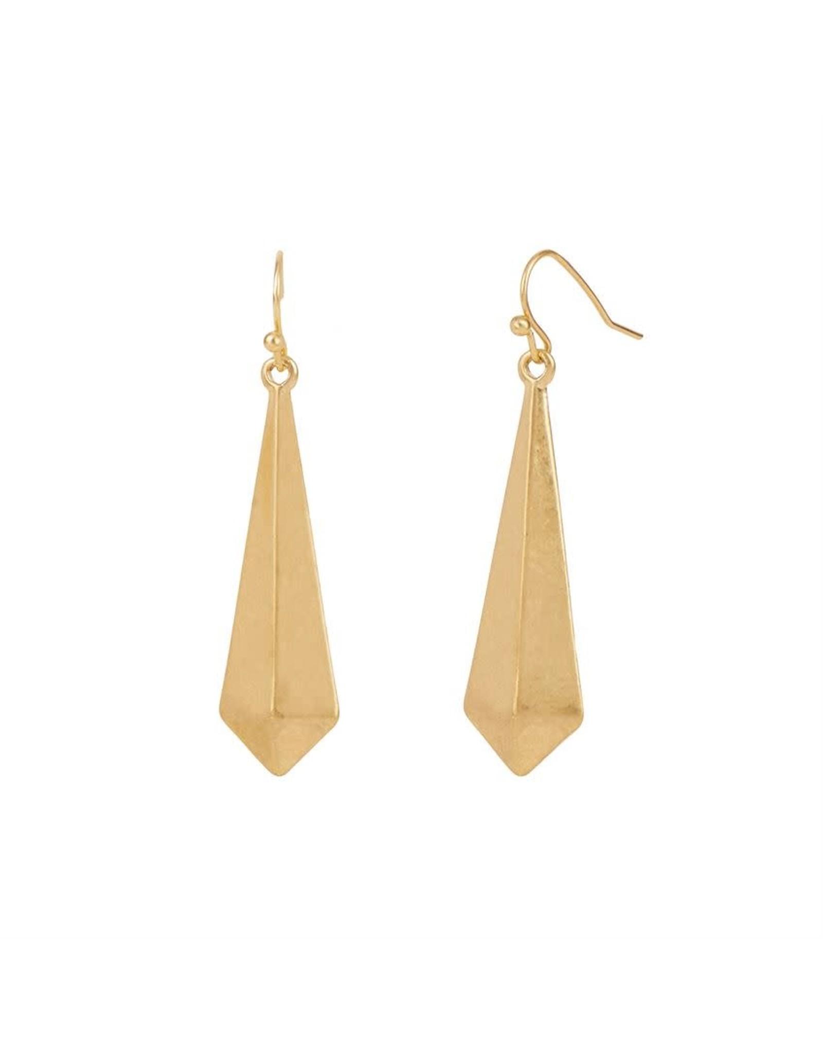 TGB / Good Bead 3D TRIANGLE EARRINGS GOLD