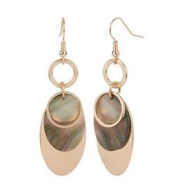 TGB / Good Bead OVERLAY ABALONE EARRINGS GOLD