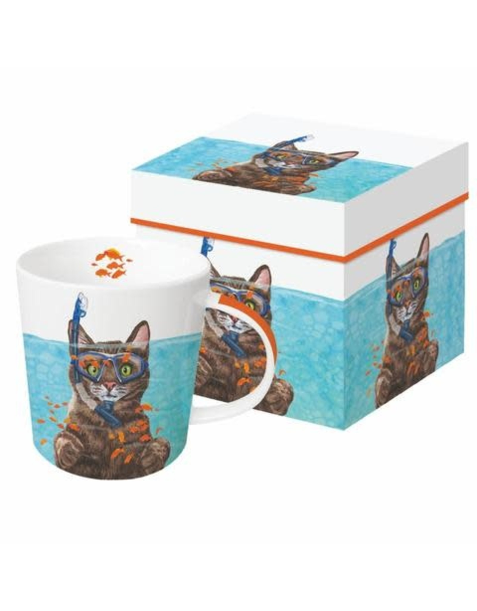 Paper Products Designs COUSTEAU  MUG IN A GIFT BOX