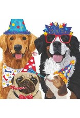 Paper Products Designs PARTY POOCHES BEVERAGE NAPKIN