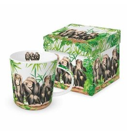 Paper Products Designs THREE APES MUG IN GIFT BOX