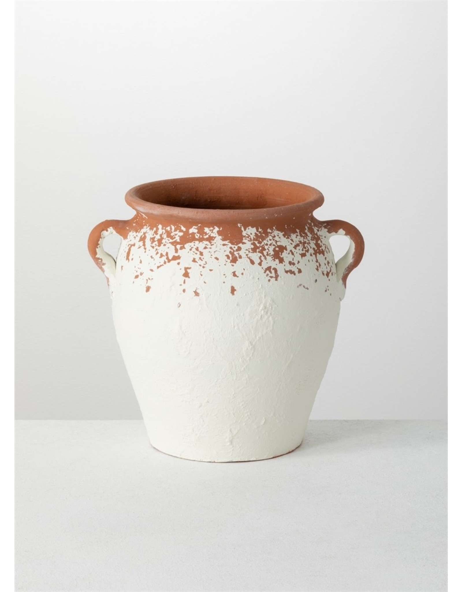 Sullivans WHITE SPECKLED POT