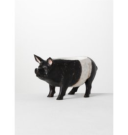 Sullivans PIG PLANTER BLACK AND WHITE