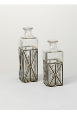 Sullivans WIRE AND GLASS VASE SMALL