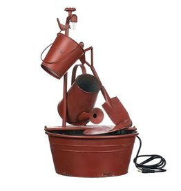 Sullivans WATERING CAN/BUCKET/SHOVEL FOUNTAIN