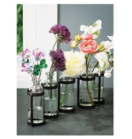 Sullivans FIVE BOTTLE VASE CLEAR BROWN