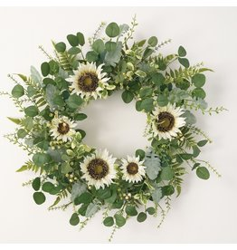 Sullivans SUNFLOWER EUCULYPTUS BERRY WREATH