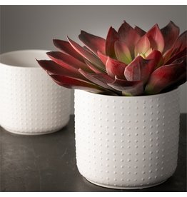 Sullivans WHITE DOT PLANTER LARGE