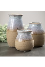 Sullivans CLAY TWO COLORED VASE LARGE