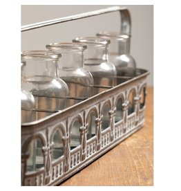 Sullivans FIVE BOTTLE CADDY SILVER