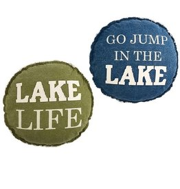 Mud Pie GO JUMP LAKE PILLOW