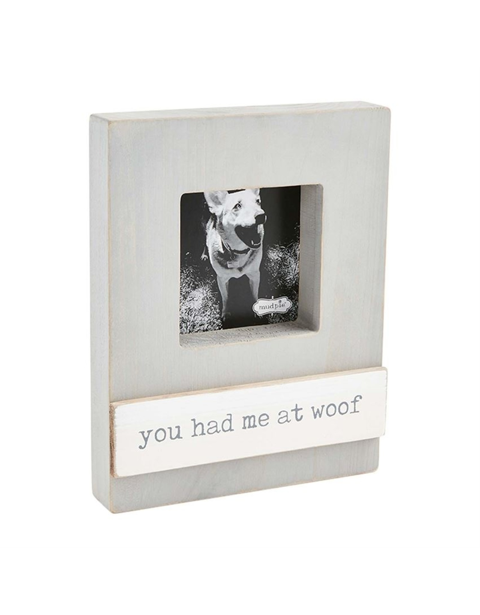 Mud Pie YOU HAD ME PET BLOCK FRAME
