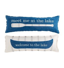 Mud Pie WELCOME LONG LAKE PILLOW