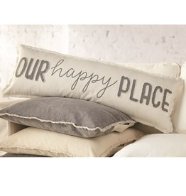 Mud Pie OUR HAPPY PLACE LONG PILLOW