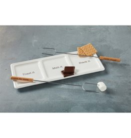 Mud Pie S'MORE TRAY AND SKEWER SET