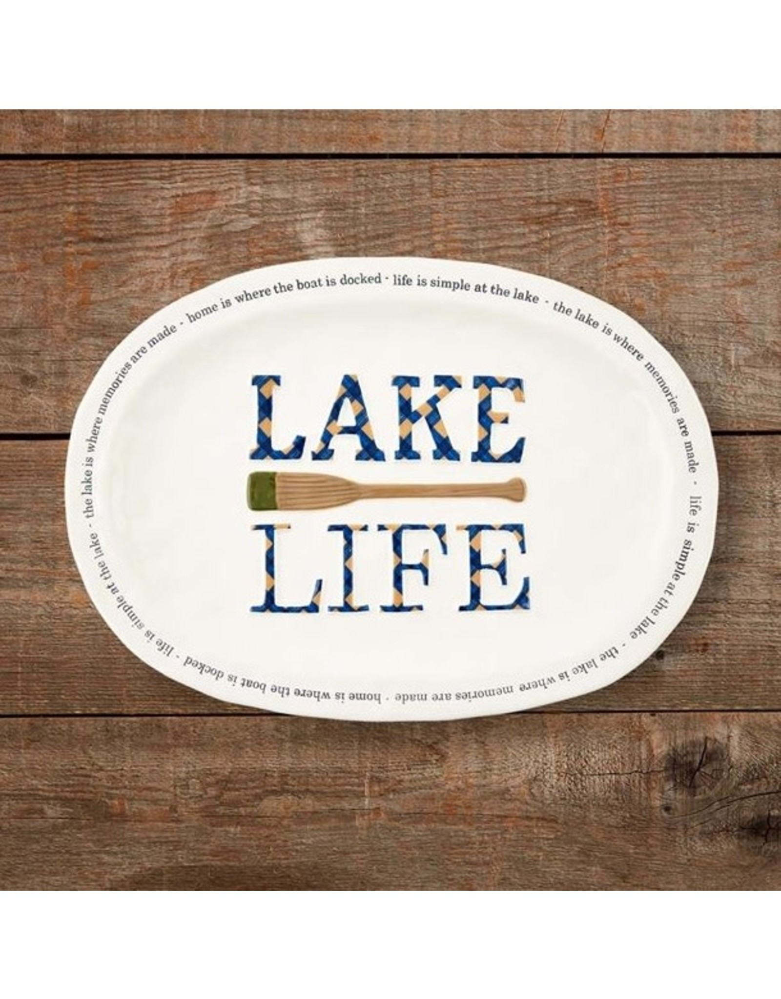 Mud Pie LAKE LIFE OAR PLATTER