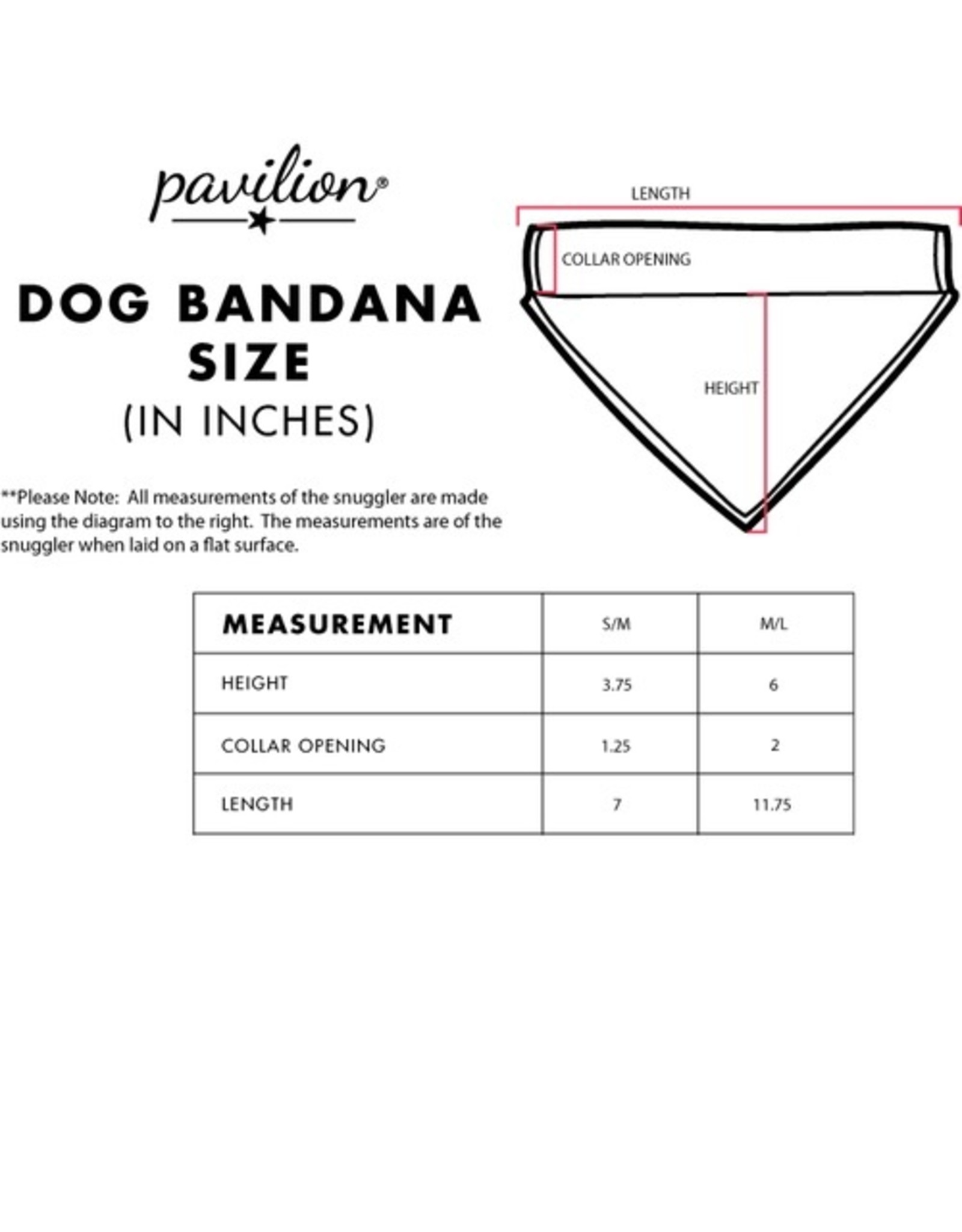 Pavilion Gift CANVAS PET BANDANA