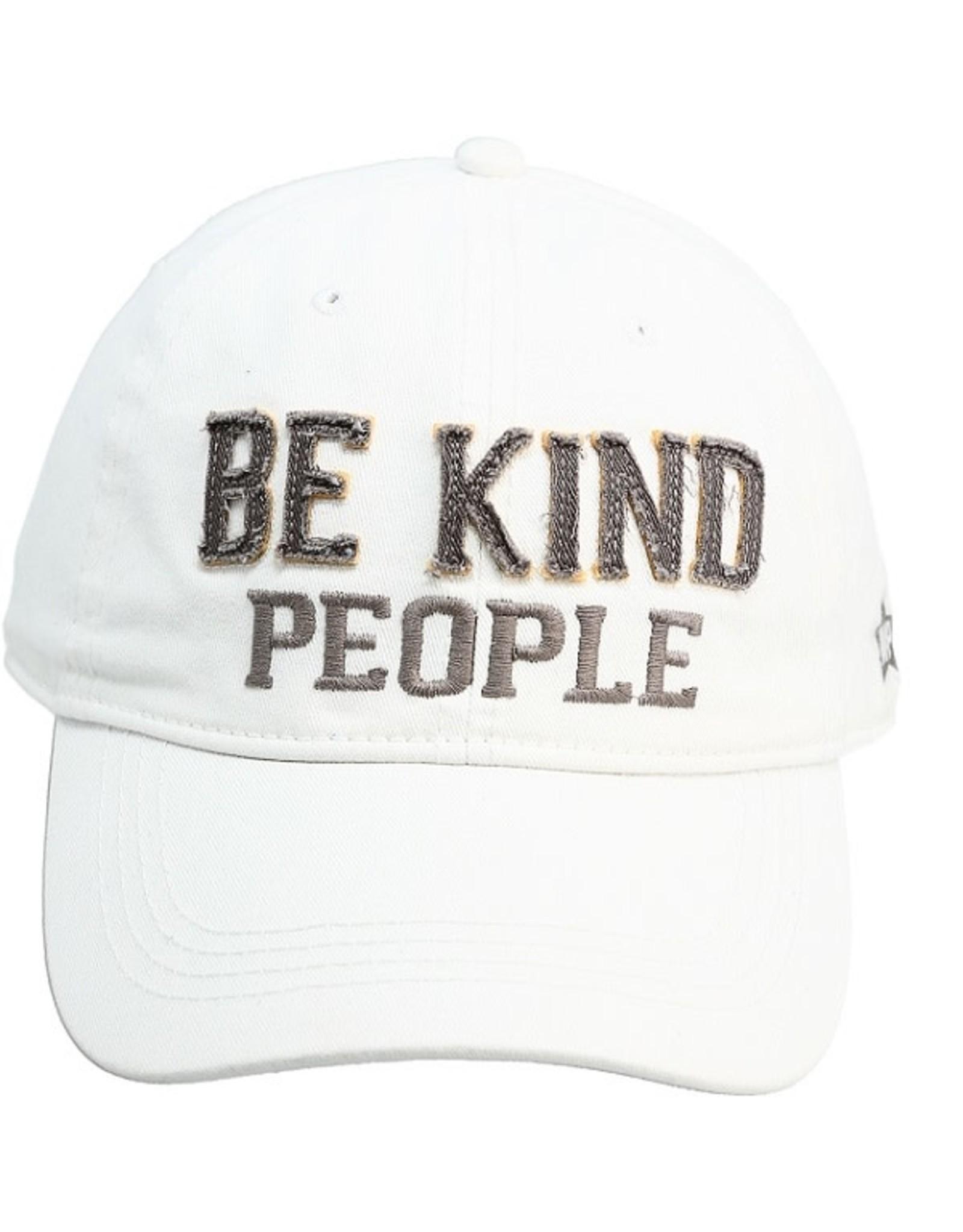 Pavilion Gift BE KIND PEOPLE WHITE HAT
