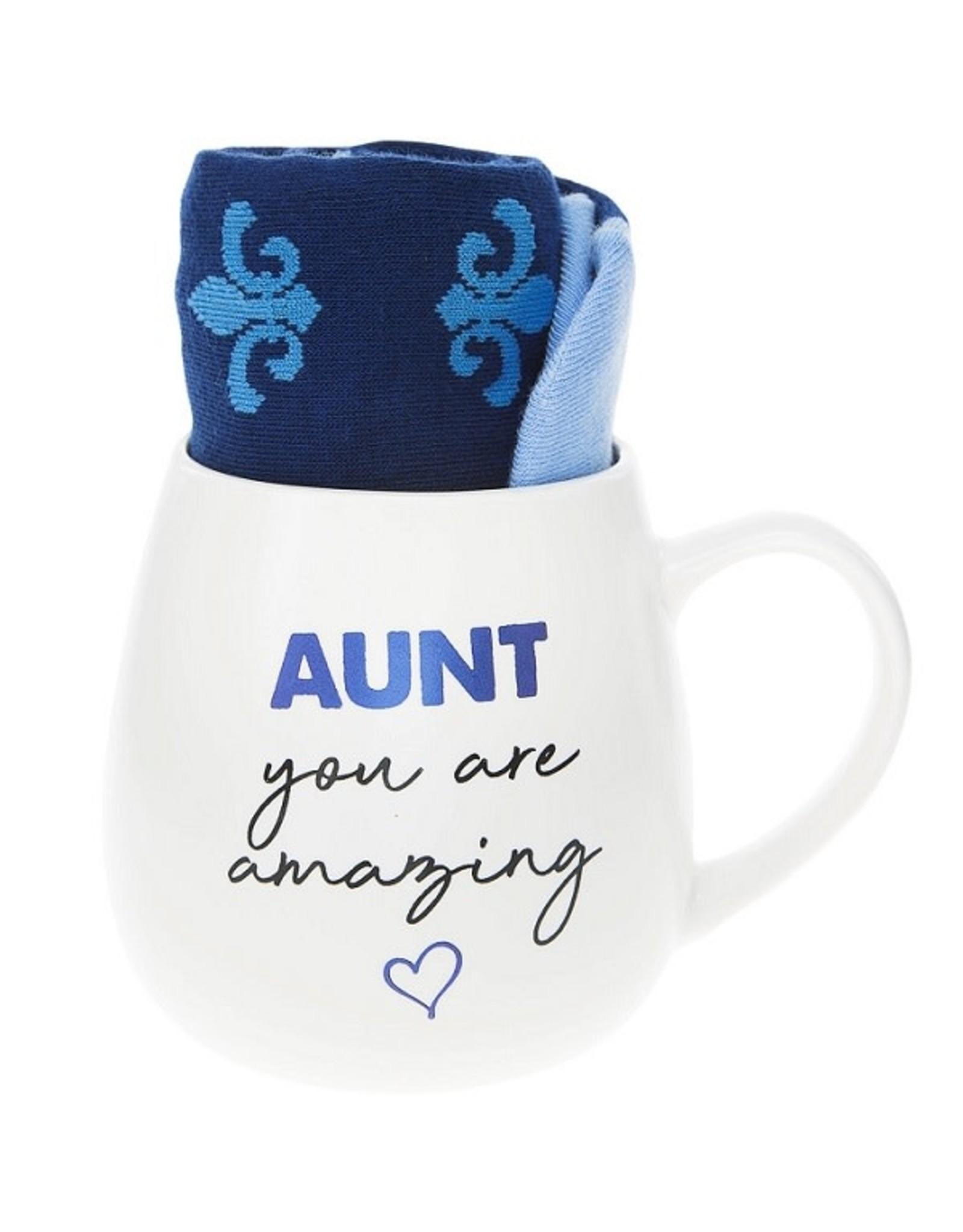 Pavilion Gift AUNT MUG AND SOCK SET
