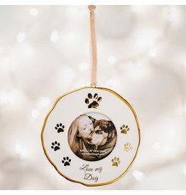 Pavilion Gift DOG PHOTO FRAME ORNAMENT