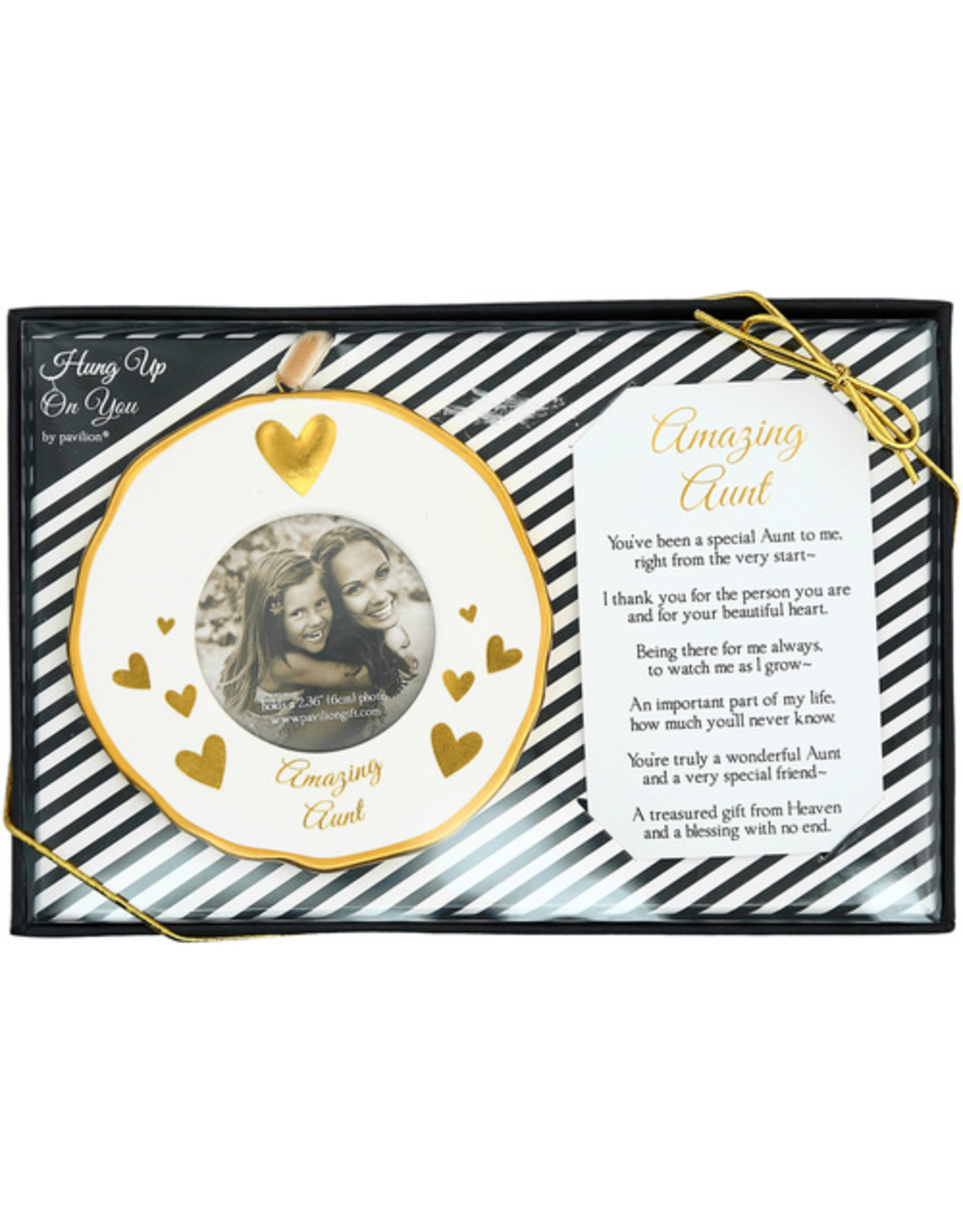 Pavilion Gift AUNT PHOTO FRAME ORNAMENT