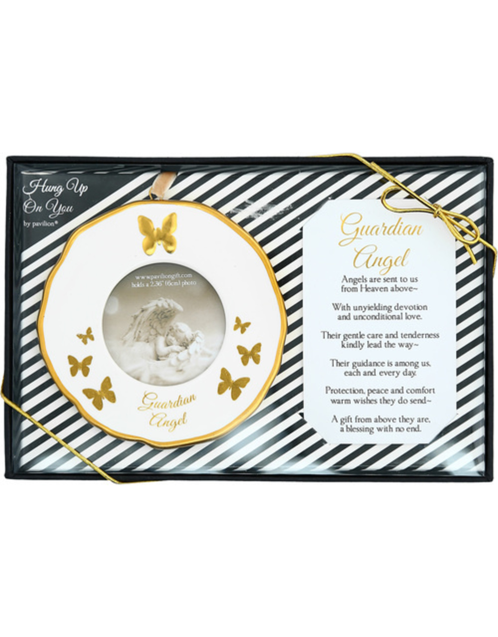 Pavilion Gift GUARDIAN ANGEL PHOTO FRAME ORNAMENT
