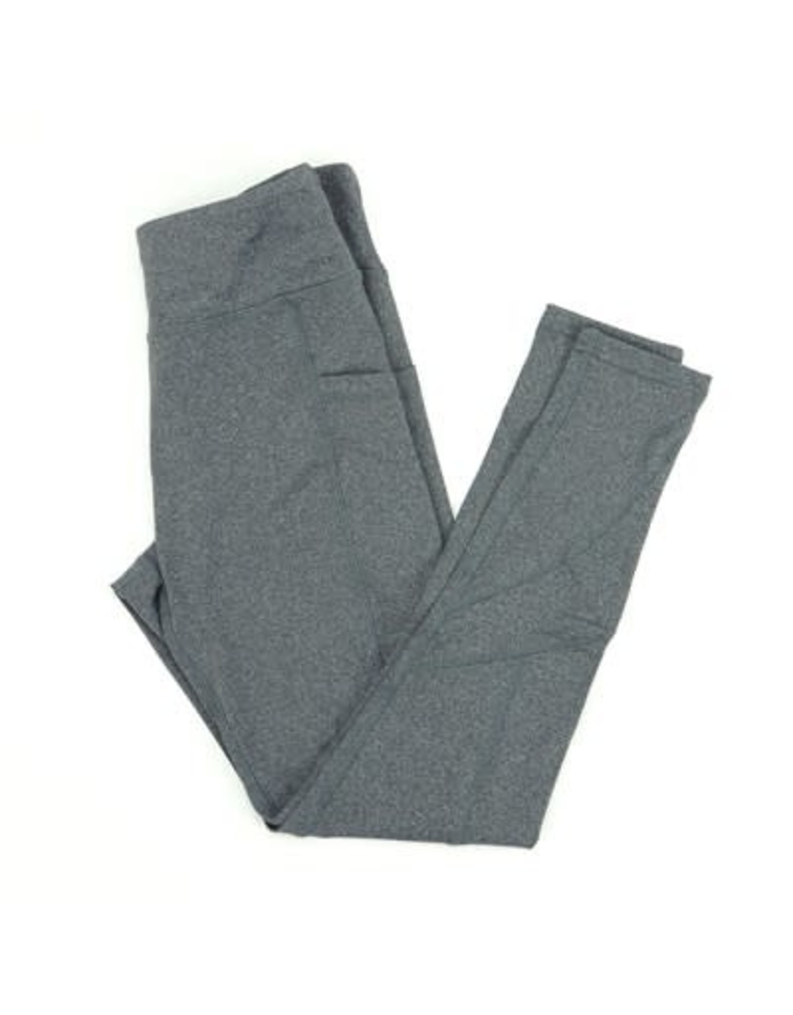 DM Merchandising GRAY ATHLETIC LEGGINGS