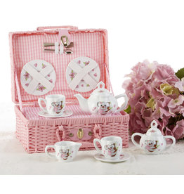 Delton KOALA BASKET PORCELAIN TEA SET