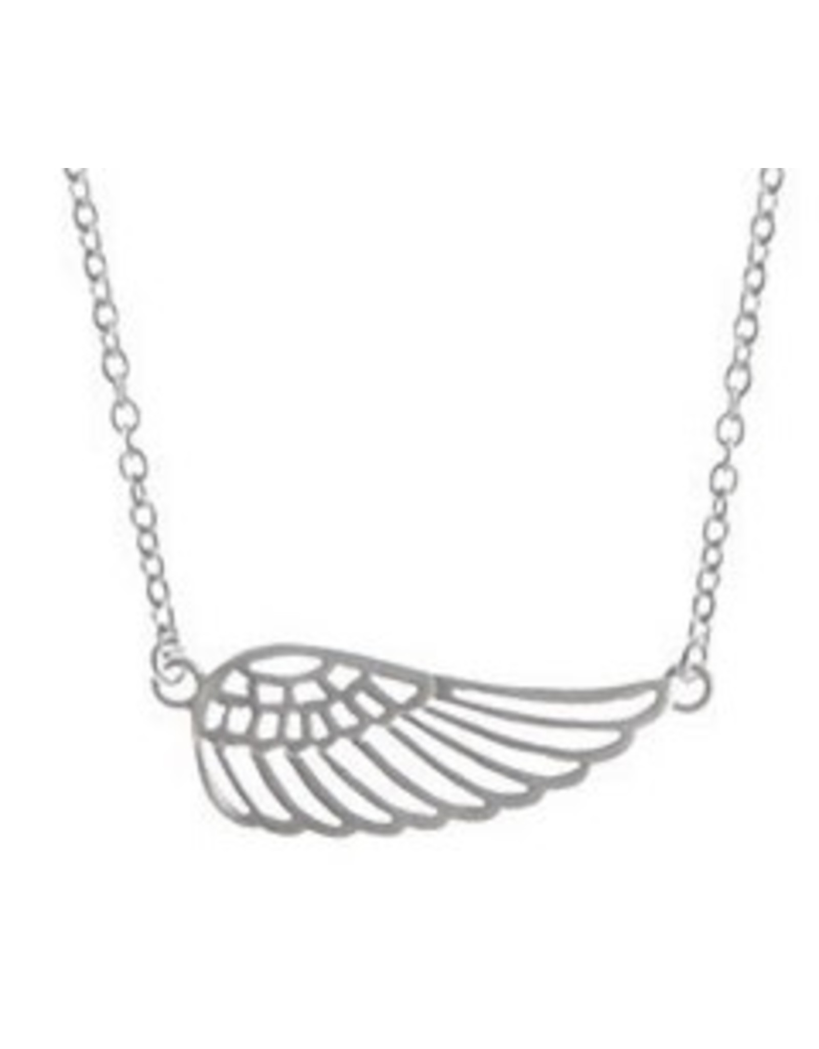 "Boma WING NECKLACE 16""+2 SILVER"