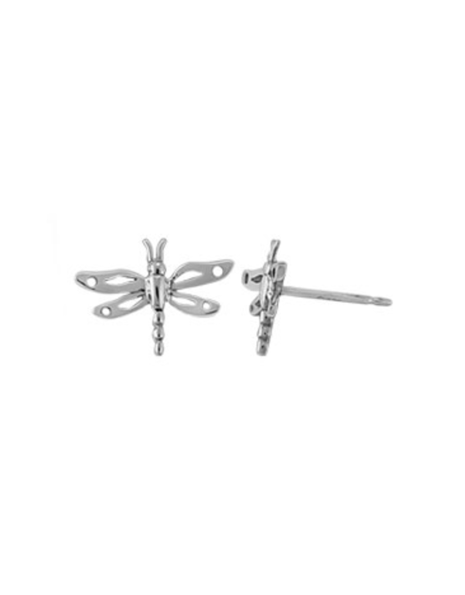Boma DRAGONFLY STUD EARRING SILVER