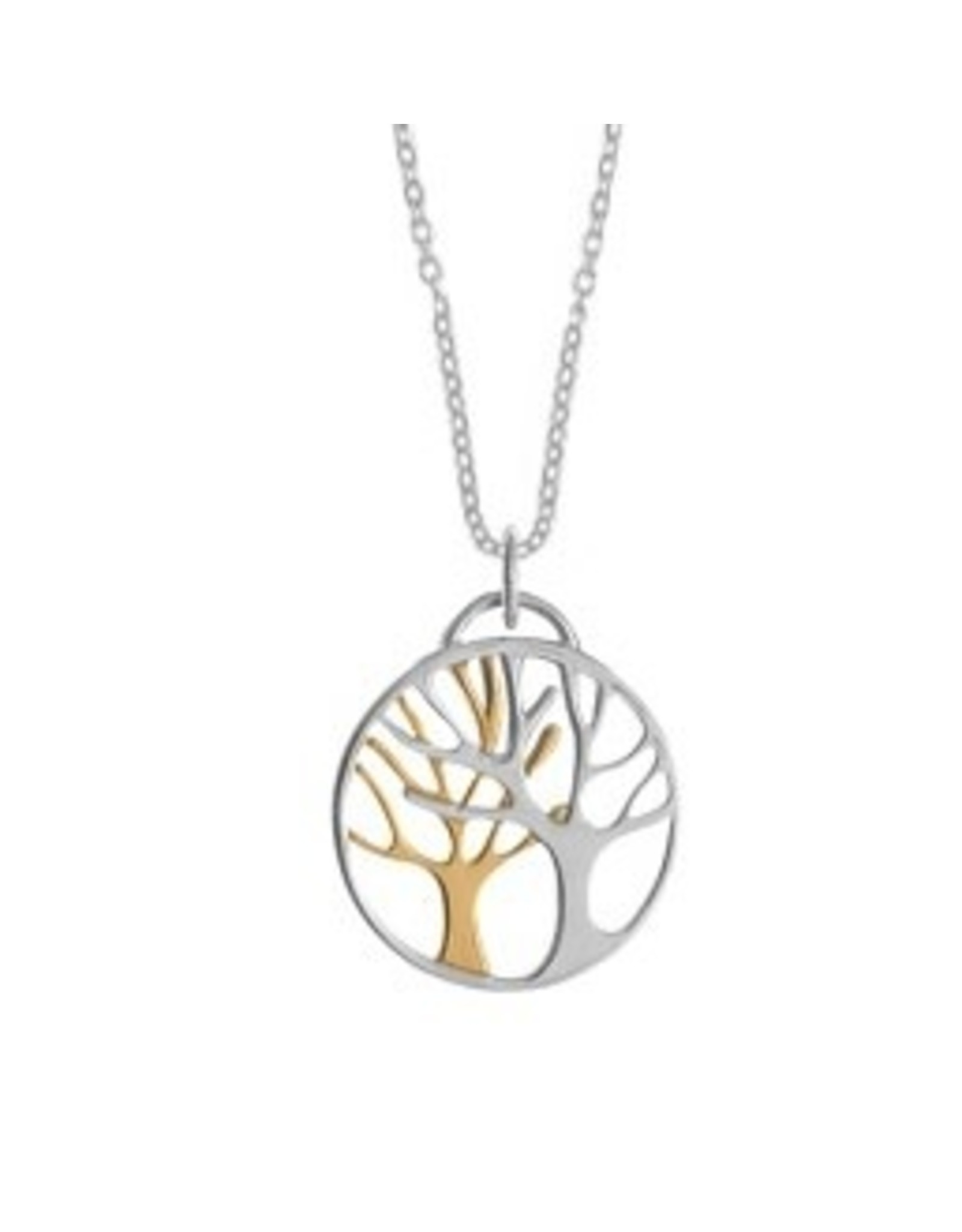 "Boma TREES NECKLACE 20"" GOLD VERMEIL SILVER"