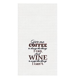 C and F Enterprises GIVE ME COFFEE KITCHEN TOWEL