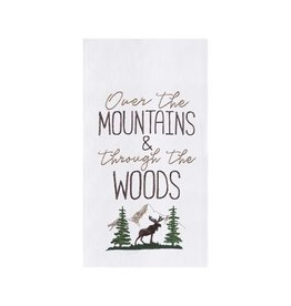 C and F Enterprises OVER THE MOUNTAINS KITCHEN TOWEL