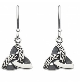 Kit Heath CELTIC TRIANGLE KNOT DROP EARRING