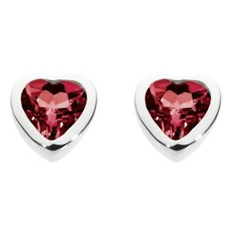 Kit Heath GARNET HEART STUD EARRING