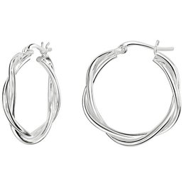 Kit Heath TWO WIRE TWIST HOOP EARRING