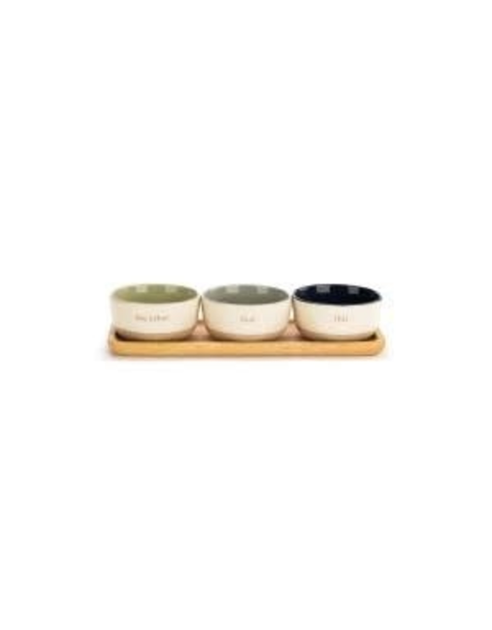 Demdaco SERVING BOWL DIP SET WITH TRAY