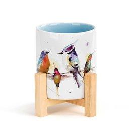 Demdaco LITTLE BIRDS MINI PLANTER