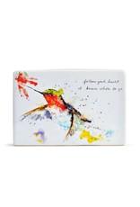 Demdaco HUMMER & FLOWER PLAQUE