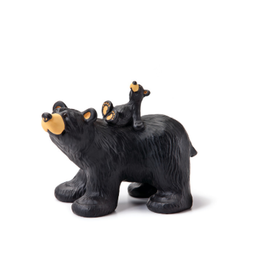 Demdaco RIDING BEARBACK BEAR FIGURINE