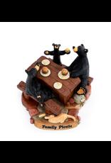 Demdaco FAMILY PICNIC BEAR FIGURINE