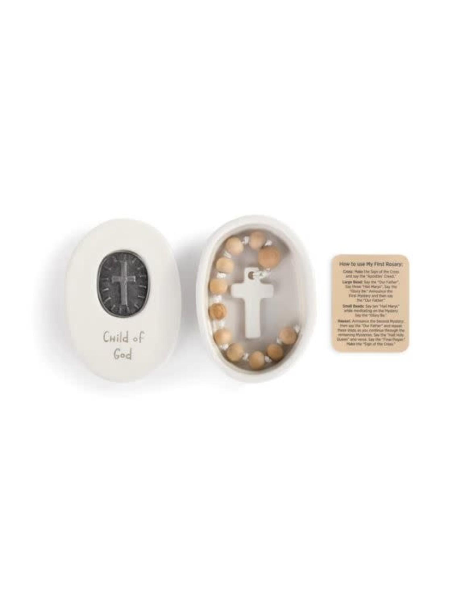 Demdaco CHILD OF GOD MEDALLION BOX WITH ROSARY