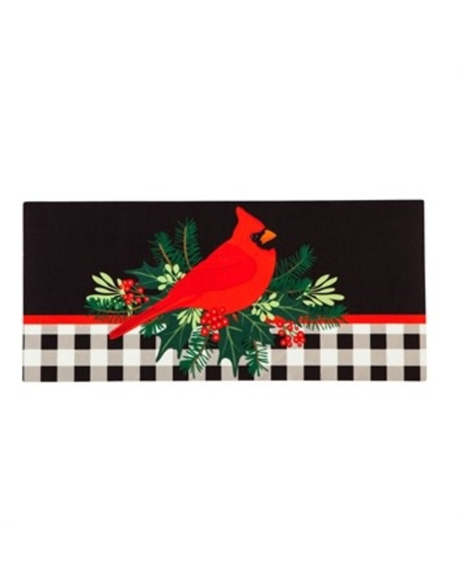 Evergreen CHRISTMAS CARDINAL SASSAFRAS MAT