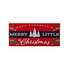 Evergreen MERRY LITTLE CHRISTMAS SASSAFRAS MAT
