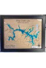 Lake Art DEEP CREEK LAKE SINGLE DEPTH COLOR MAP 11X14