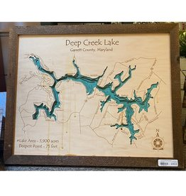 Lake Art DEEP CREEK LAKE MAP 3D RUSTIC