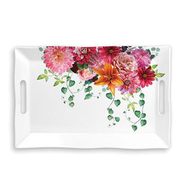 Michel Design Works SWEET FLORAL MELODY MELAMINE TRAY