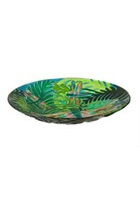 Evergreen DRAGONFLY GLASS BIRD BATH