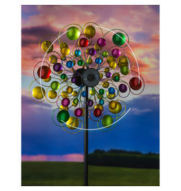 Evergreen COLORFUL BUBBLES SOLAR WIND SPINNER